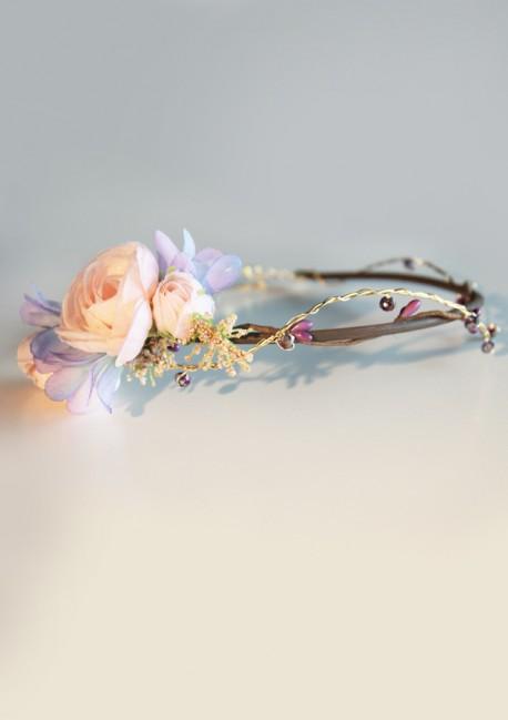 Couronne bijou rose et violet